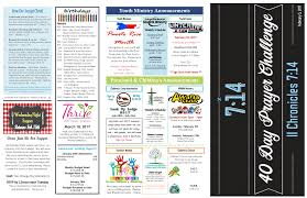Preschool & Children's Announcements Youth Ministry Announcements
