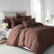 plain dyed brown duvet covers and