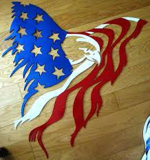 metal flag signs custom plasma cut gauge steel metal eagle shredding flag patriotic symbol hand painted