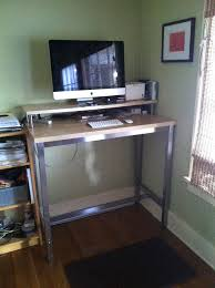 stand up office desk ikea. impressive ikea stand up desk standing with ut legs hackers office