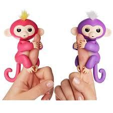 Amazon.com: Fingerlings Interactive Baby Monkeys 2 Pack- Mia (purple ...