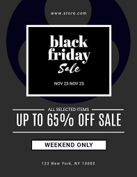Black Friday Special Offer Flyer Template Visme