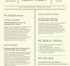 Example Of Teacher Resume Best Format For Teaching Profession ...