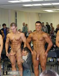 Caught Nude Male Bodybuilders Backstage