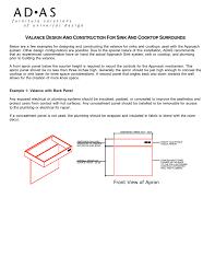 Triplepoint Design Build Adjustable Motorized Sink Kit Valance Design Construction