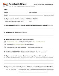 Workshop Evaluation Form Awesome Website Feedback Form Template Free Questionnaire Templates Line