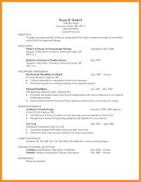 5 6 Sample Resume Occupational Therapist Wear2014 Com