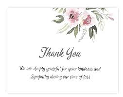 Thank You Sympathy Cards Thank You Memorial Cards Karobarnow