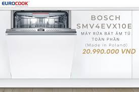 Máy rửa bát âm tủ toàn phần Bosch SMV4EVX10E