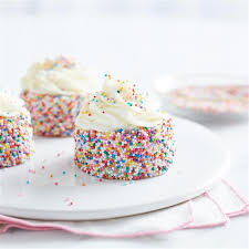 Colorful Funfetti Mini Cakes