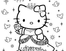 My daughter really liked this colouring book with hello kitty and her friends. Princess Hello Kitty Coloring Pages