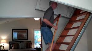 6627 Barrett Road--Automatic Attic Stairs - YouTube
