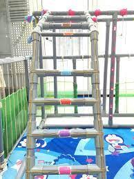 Ông bố trẻ tận dụng ống nhựa PVC làm đồ chơi cho hai con gái