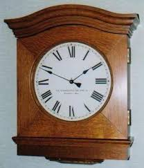 the standard electric time company collector s photo gallery eyebrow style secondary clock made in 1916 for chazy central rural school chazy