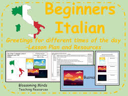 Italian lessons and resources - Greetings for different times of ...