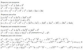 формулы сокращенного умножения картинки формулы сокращенного умножения
