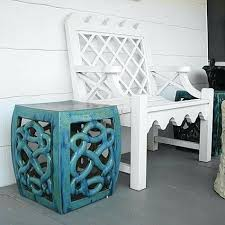 blue garden stool. Aqua Garden Stool Blue .