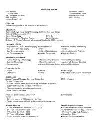 Free Sample Science Math Resume Example