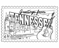 Small Picture USA Printables Tennessee State Stamp US States Coloring Pages