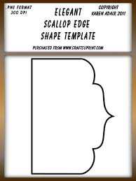 Scallop Templates Elegant Scallop Edged Shape Template Cup178396_168 Craftsuprint