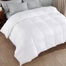 peace nest 100 cotton white king goose down comforter