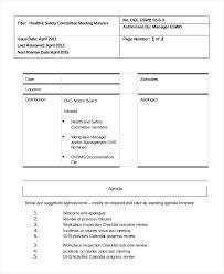 Printable Meeting Agenda Template Minutes Staff Templates – Rigaud