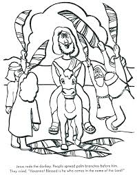 Palm Sunday Coloring Page Coiffurehommeinfo