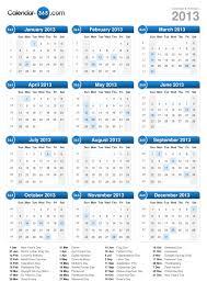 printable year calendar 2013 2013 calendar