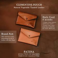clementine envelope pouch patina