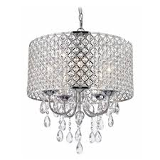 crystal chrome chandelier pendant light with crystal beaded drum shade ceiling pendant fixtures com