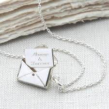 original sterling silver personalised secret letter necklace
