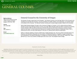 Uo General Counsel Stops Pleading The Fifth On Dearinger Resume Uo
