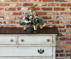 two tone painted furniture. Painted Furniture Before And After Two Tone Finish Petticoat Junktion
