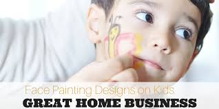 small face painting designs on kids great home business