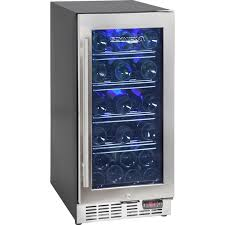 wine fridge with glass door front venting and quiet operation skinny cooler underbench compact refrigera kitchen