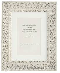 ornate white shabby chic vintage picture frame with
