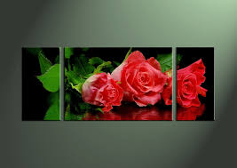 rose wall art canvas