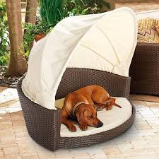 Outdoor Wicker Pet Bed with Canopy | Frontgate