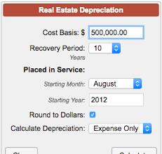 Depreciation Schedule Calculator Property Depreciation Calculator Real Estate