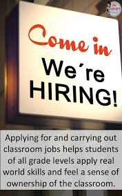 Caution Students At Work Classroom Jobs For Secondary