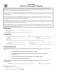 Child Support Affidavit Form Fill Out And Sign Printable