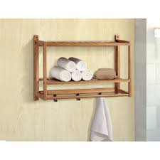 Bathroom Shelf Gallerie Decor Natural Spa 22 W Bathroom Shelf Reviews Wayfair