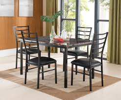 Rectangle Kitchen Table Marble Table And Chairs Furniture Of America Belleterre 7piece
