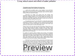 essay about cause and effect of water pollution term paper help essay about cause and effect of water pollution essay quotes in hindi sms essay