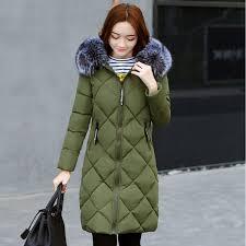 padded coats women parkas jackets women winter coat 2017 medium long hooded winter jacket female warm