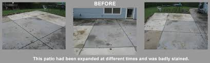 stained concrete patio before and after. Patio With Bad Staining Stained Concrete Before And After B
