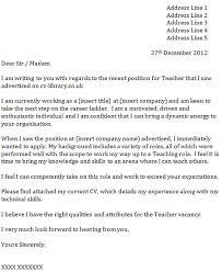 Tutor Cover Letter Cover Letter For A Teacher Icover Org Uk