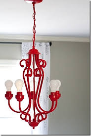 chandelier makeover spray paint the go