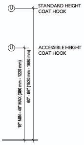 Coat Hook ADA Accessible & Standard Height