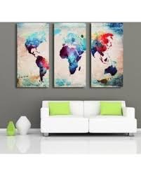 3 pcs oil painting new world map abstract decorative canvas painting no frame wall art display  on world map wall art with photo frames with don t miss this deal on 3 pcs oil painting new world map abstract